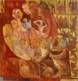 Miroslav Konrád, Sudičky, olej 130x120 cm