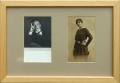 František Drtikol, dvojportrét: portrét herce Vojana, 1923, bromografie 75x110 mm, čtvercové hlubotiskové razítko portrét Vojanovy dcery Olgy, s níž se otec rozešel, a která zmizela za nevysvětlených okolností v Berlíně, fotografický litotisk 80x130 mm, rámováno, cena celkem 6.000.- Kč
