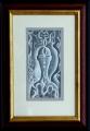 František Hudeček: Mystik, 1974, kresba tužkou 110x210 mm, vystaveno v Galerii Moderna 2014, signováno, rám 290x420 mm, cena 8.200.- Kč