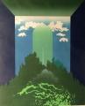 Vladimir Jackiewicz: Zelený menhir, 1980, serigrafie, rozměr rámu 64x81, signováno Cena 3.500 Kč