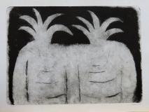 Dva kaktusy, suchá jehla 49x35 cm, rám 54,5x66,5 cm, signováno 4.600.-