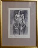 Oldřich Kulhánek, Odkaz lept 12,5 x 19 cm rámováno cena PRODÁNO