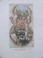 Oldřich Kulhánek, Ex libris František Turnovec litografie 15x21 cm signováno, nerámováno cena 2.200,- Kč