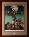 Josef Liesler: Svět Salvadora Dalí, litografie, rozměr rámu 74x59, označeno razidlem Lyra Pragensis, signováno Cena 8.900 Kč