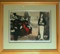 Josef Liesler: Přísní soudci, 1945 (!), litografie, hlubotisková ražba (elk), rozměr rámu 85x57, signováno Cena 12.000 Kč