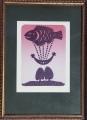 Miloslav Nováček: Dnešní sen, č. 107/200, 1981, litografie, - rozměr výřezu vpaspartě 14x19 cm, rozměr rámu 23x31,5 cm, signováno - cena 700 Kč