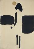 František Peterka : Píseň horizontu, koláž – papír 69,5x48 cm, volný list, nedatováno, signováno 1.500 Kč