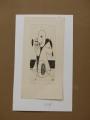 František Peterka: Vzpomínka, č. 34/70, suchá jehla, rozměr tisku 4,5x9,5 cm, rozměr listu 7x14 cm, nerámováno, signováno cena 400 Kč