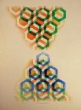 Dana Puchnarová:  Dole i nahoře / Asymetrie, 2001, litografie 70x50 cm, volný list, signováno, 1.800.-