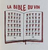La Bible du Vin, 16x15,5,  - rám 30x26,5 cm - 1.600.-