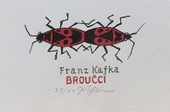 Franz Kafka – Broučci, 11x14, rám 26,5x30 cm            1.300,-