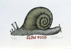 Slow Food, 11,5x16 rám 26,5x30 cm    1.300.-