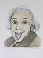 Jiří Slíva, Post Einstein, litografie č. 24/40, rozměr listu 37,8x46 cm, rámováno, cena 4.000.- Kč