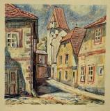 Panská ulička v Č. Budějovicích, litografie č. 35/200, rozměr listu 39x39 cm, signováno, nedatováno 1.600 Kč