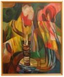 Rostislav Štěpánik, Tropický den olej na plátně 70x83 cm rámováno cena 14.000,- Kč