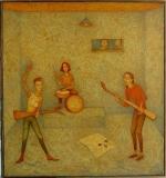 Hrušky, 2019, olej na plátně 70x61,5 cm, rámováno lištou, signováno, cena 35.000.- Kč