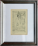 František Tichý: Pozvánka na výstavu F. Tichého v Pošově galerii, 1944, suchá jehla 97x150 mm (Dvořák č. 105), cena 7.200.- Kč