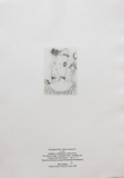 František Tichý, Hlava clowna III. (vytištěno u příležitosti vydání knihy Fr. Dvořák: Fr. Tichý - Grafické dílo v počtu 25 číslovaných - č. výstisku IV. Vydala Galerie Vltavín Praha 1995, tisk Pavel Dřímal ruční papír fy Král Předkláštěří cena 3.500,- Kč
