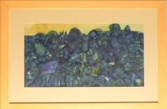 Karel Valter: Modrá krajina, 1969, akvarel, rozměr rámu 61x41, signováno Valter 69 Cena 12.000 Kč