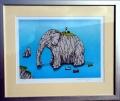 Josef Velčovský: Maják s elefantastickým výhledem (Etretat, Normandie), litografie 12/90, rozměr rámu 50x42 cm, signováno Cena 3.700 Kč