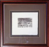 Jan Zrzavý: Benátky, suchá jehla na ručním papíře, rozměr tisku 14,5x9,5 cm, - rozměr archu 25,5x22 cm, rozměr rámu 50x48 cm, signováno - cena 29.000 Kč