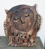 Ivana a Jan Bambasovi: Sova, zahradní keramika - kamenina, výška 42 cm, cena 6.500.- Kč