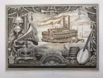 Song of Mississippi, 25x34 cm,  rám 40x55 cm                  5.200.-