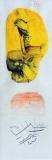Zpráva z Marsu, malba na papíře 6x18 cm, rozměr rámu 20x35 cm, signováno, cena 700,- Kč