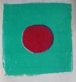 Bez názvu, 1991, aut. tisk, serigrafie na ručním papíře 58,5x42,5 cm, nerámováno, signováno, cena 4.800.- Kč