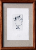 Lyra Pragensis, lept, rozměr listu 7,2x10,6 cm, rozměr rámu 12x16,5 cm, signováno, cena 150,- Kč